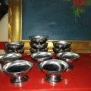 Antigüedades: 12 COPAS DE HELADO O POSTRE EN METAL. Lote 165686944
