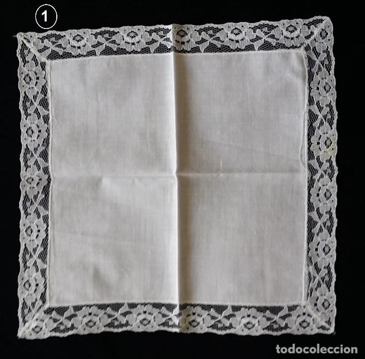 Antigüedades: Lote de tres (3 ) pañuelos - Foto 3 - 122995007