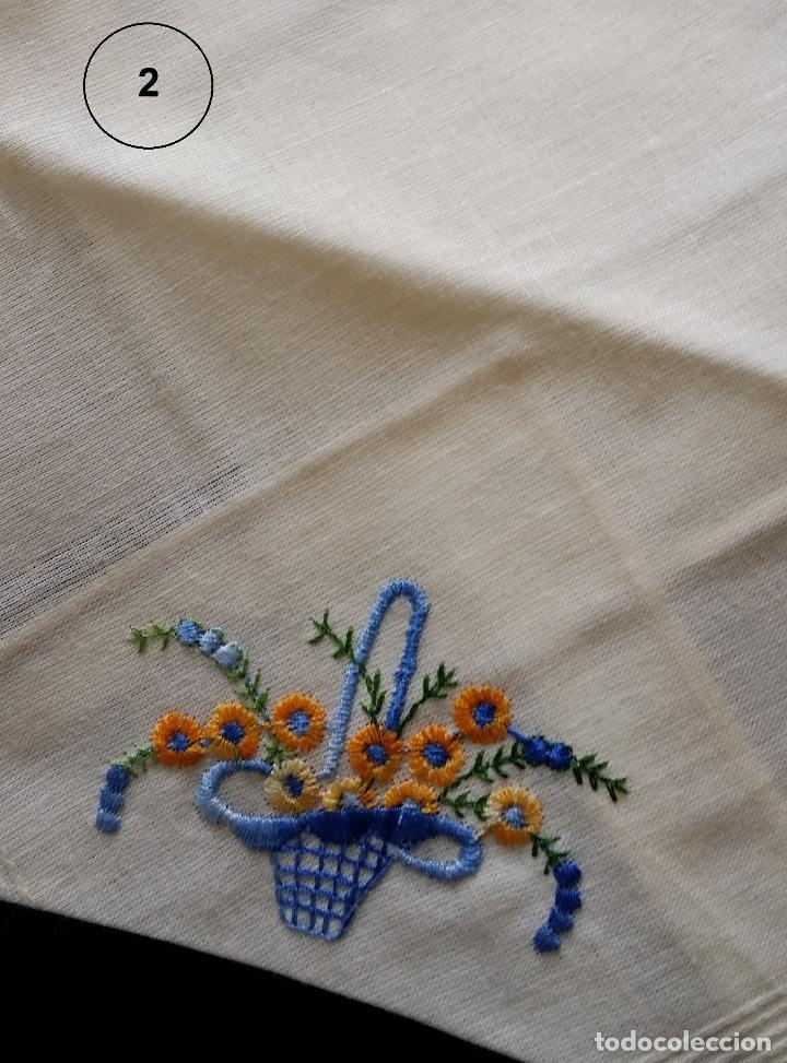 Antigüedades: Lote de tres (3 ) pañuelos - Foto 5 - 122995007