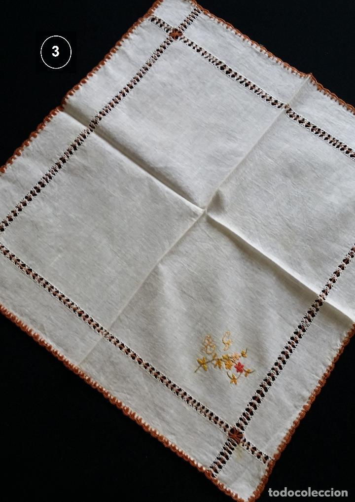 Antigüedades: Lote de tres (3 ) pañuelos - Foto 7 - 122995007