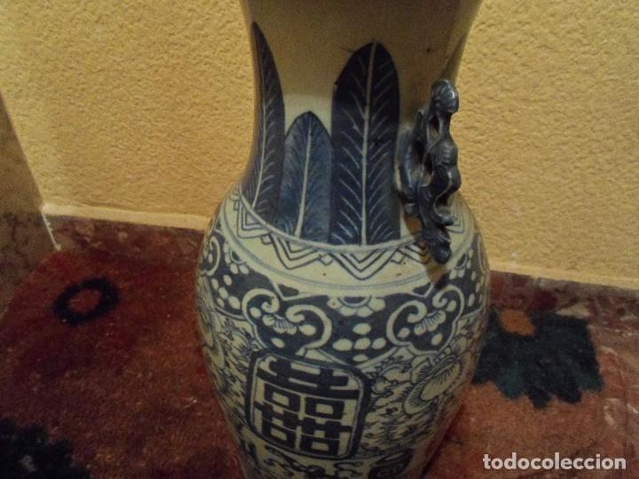 Antigüedades: JARRON CHINO EN AZULES DEL SIGLO XIX CON CERTIFICADO - Foto 7 - 52286385