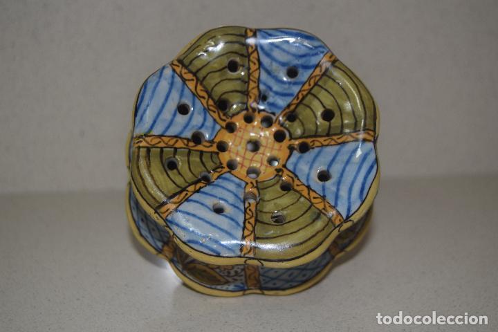 Antigüedades: talquera de ceramica - Foto 2 - 123017371