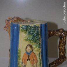 Antigüedades: JARRA DE CERAMICA DOS CUERPOS EXTRAÑA PIEZA . Lote 123021955