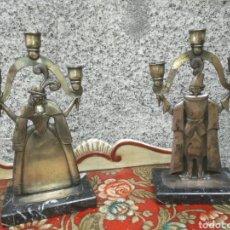Antiques - Pareja candelabros - 123022667