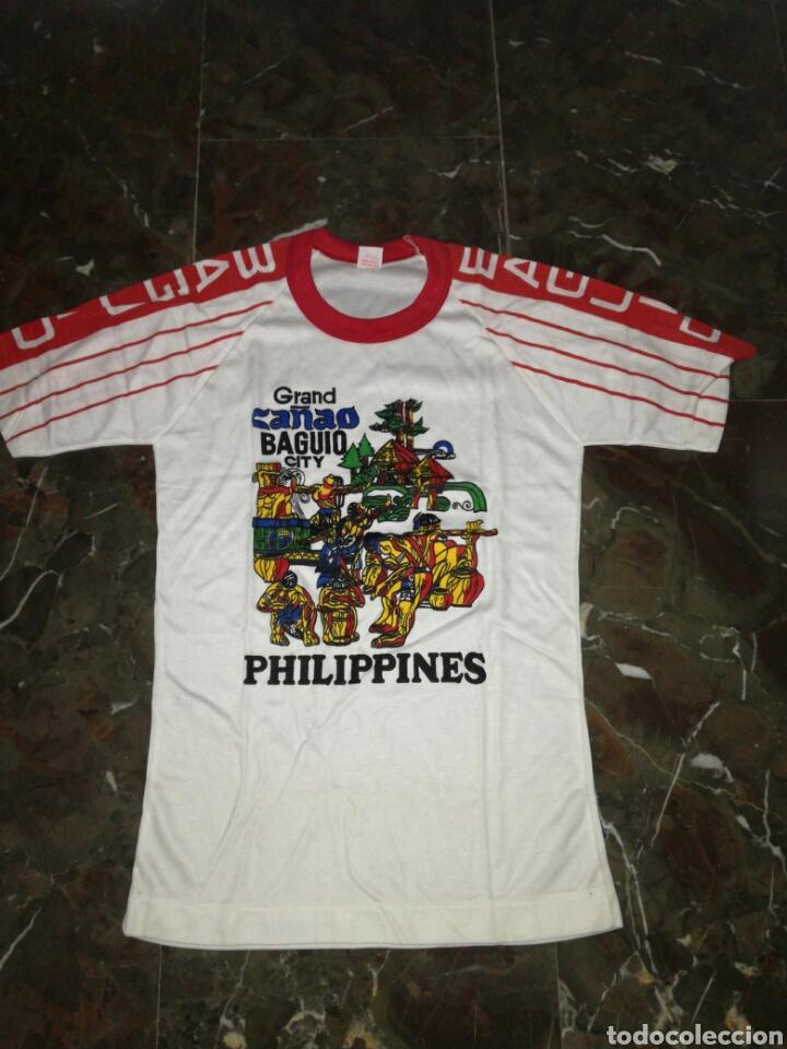 CAMISETA PHILIPPINE AÑOS 80 SI USO (Antigüedades - Moda y Complementos - Hombre)