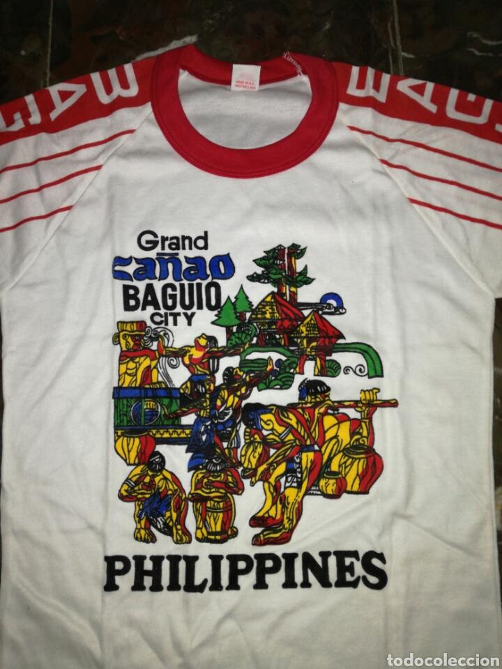 Antigüedades: Camiseta Philippine años 80 si uso - Foto 2 - 123024387
