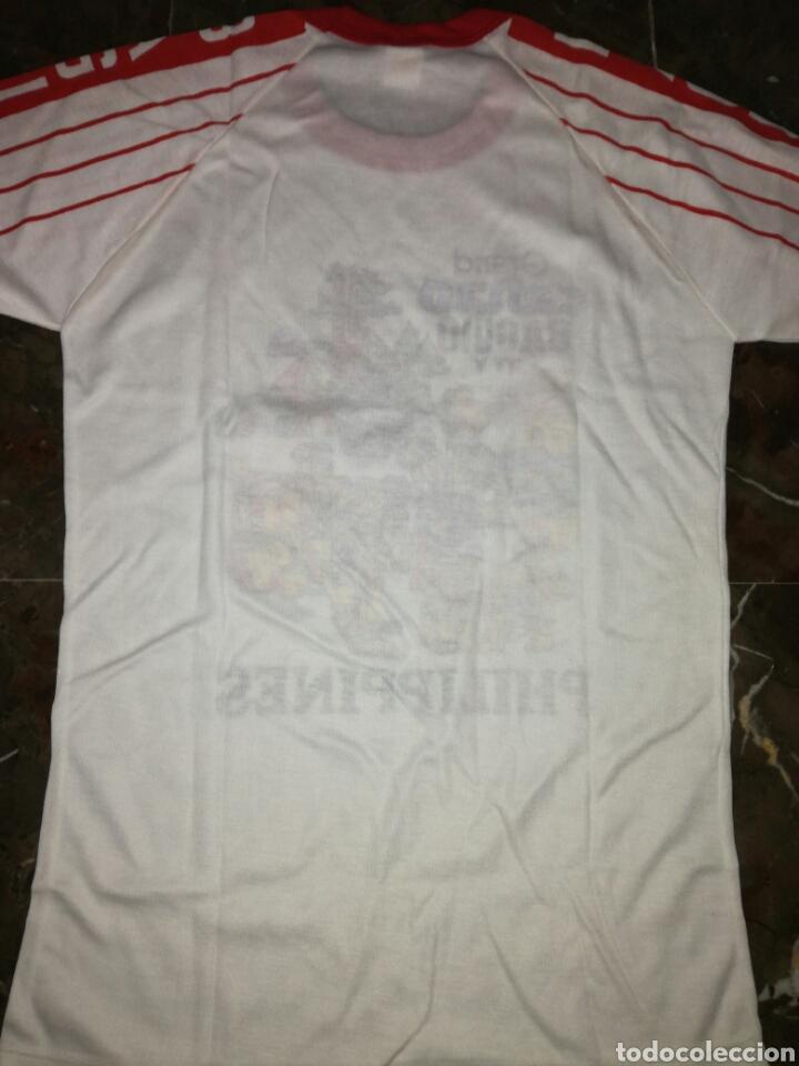 Antigüedades: Camiseta Philippine años 80 si uso - Foto 5 - 123024387