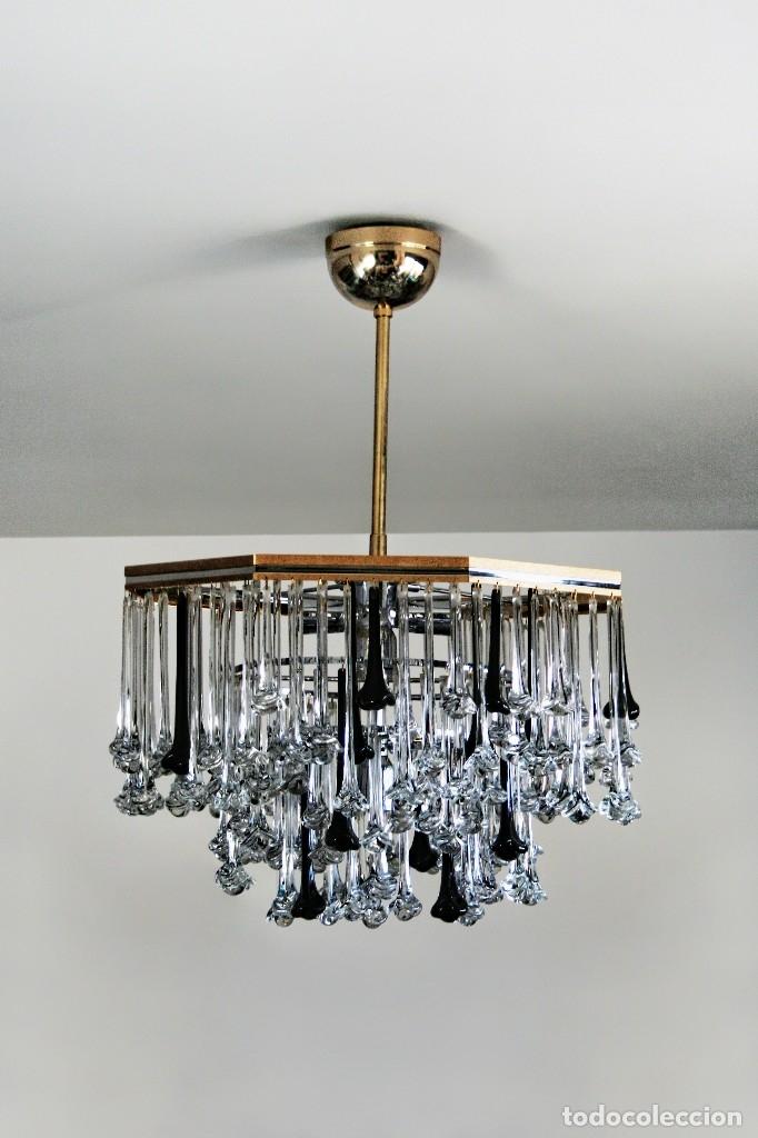 Lampara techo ara a chandelier cristal de muran comprar l mparas antiguas en todocoleccion - Lamparas de arana de cristal ...