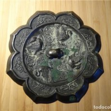 Antigüedades: BIRDS OF THE TANG DYNASTY (618-907) - PETALS - BRONZE MIRROR. Lote 123040275