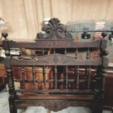 Antigüedades: ANTIGUO CABEZAL Y PIE DE CAMA, 120CM DE ANCHO TOTAL.. Lote 123046148
