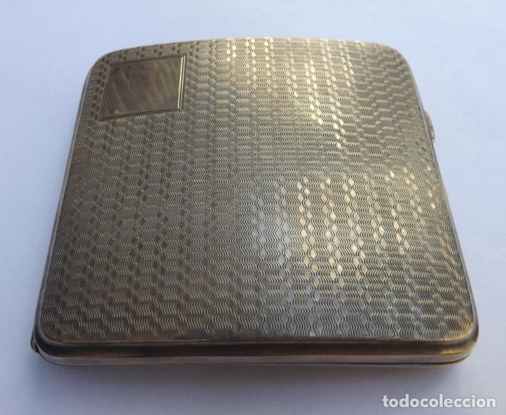 Antigüedades: Pitillera antigua de plata. Pitillera siglo XIX. Silver cigarette case. - Foto 2 - 123049535