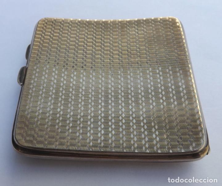 Antigüedades: Pitillera antigua de plata. Pitillera siglo XIX. Silver cigarette case. - Foto 4 - 123049535