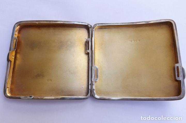 Antigüedades: Pitillera antigua de plata. Pitillera siglo XIX. Silver cigarette case. - Foto 6 - 123049535