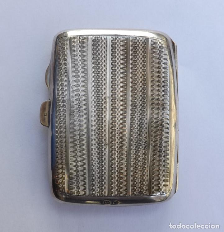Antigüedades: Pitillera antigua de plata y carey. Pitillera siglo XIX. - Foto 3 - 123049815