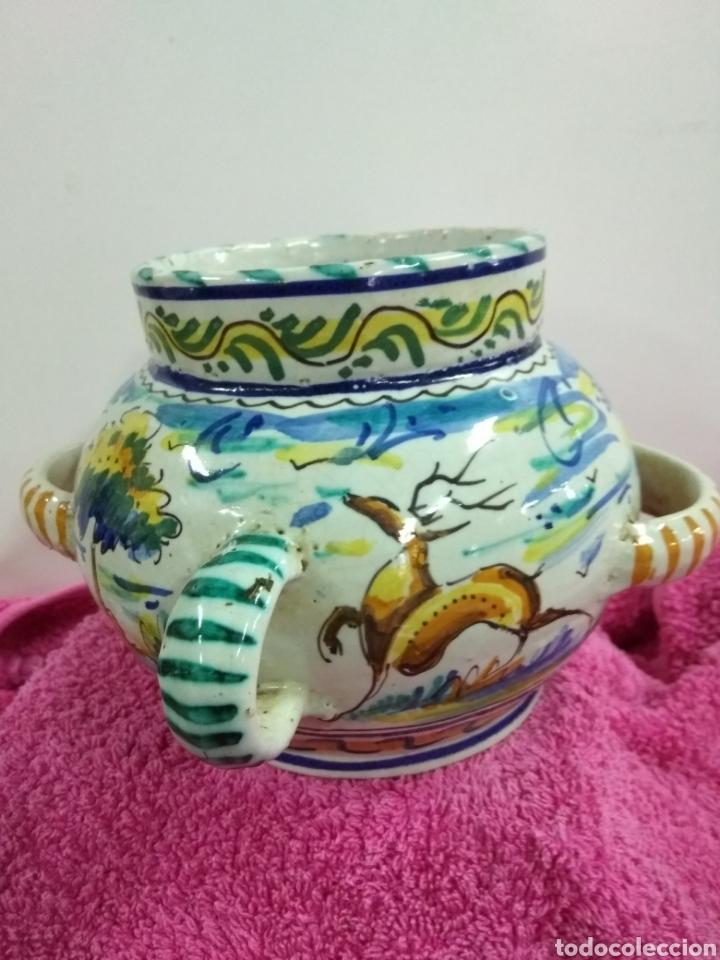 ORIGINAL Y PRECIOSO JARRÓN DE TRIANA. 14 X 21 CMS (Antigüedades - Porcelanas y Cerámicas - Triana)