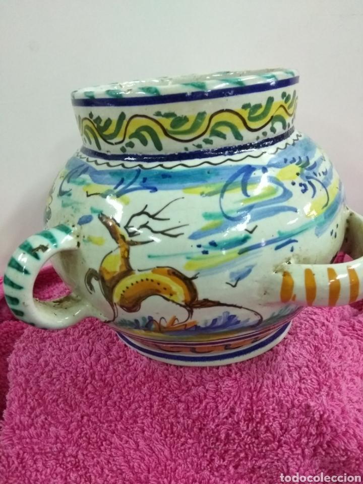 Antigüedades: Original y precioso jarrón de Triana. 14 x 21 cms - Foto 2 - 123064930
