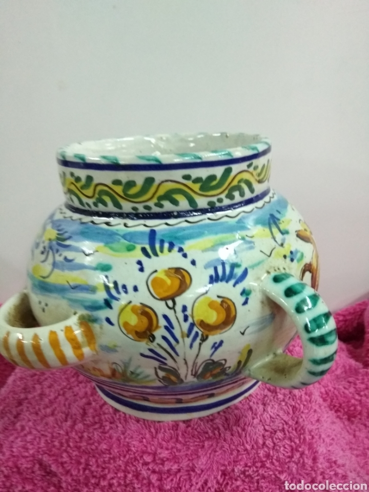 Antigüedades: Original y precioso jarrón de Triana. 14 x 21 cms - Foto 3 - 123064930