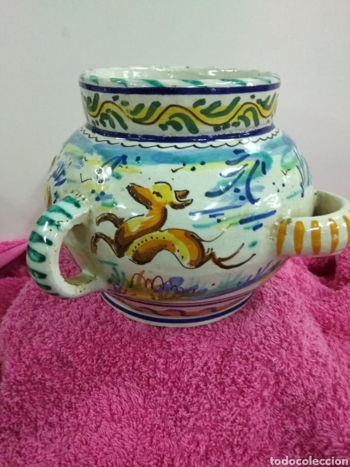 Antigüedades: Original y precioso jarrón de Triana. 14 x 21 cms - Foto 4 - 123064930
