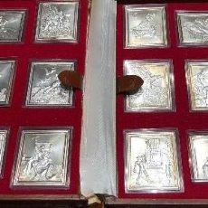 Antigüedades: REPRODUCCION PLATA PURA 18 GRABADOS DE GUSTAVE DORE HAZAÑAS DE DON QUIJOTE - 1979. Lote 123069239