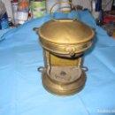 Antigüedades: ANTIGUO FAROL DE METAL O LATON DORADO CREO DE BARCO . Lote 123070359