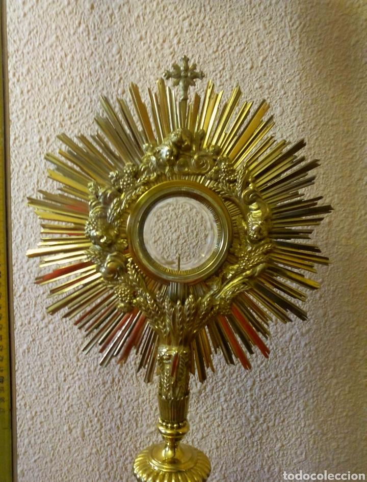 CUSTODIA DORADA (Antigüedades - Religiosas - Orfebrería Antigua)