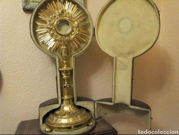 Antigüedades: Custodia dorada - Foto 6 - 123078407