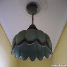 Antigüedades: LAMPARA DE CERAMICA-AÑOS 70. Lote 123081931
