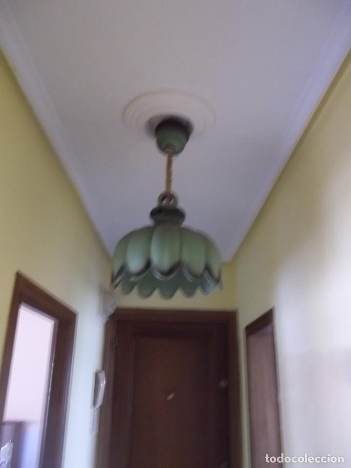 Antigüedades: LAMPARA DE CERAMICA-AÑOS 70 - Foto 2 - 123081931