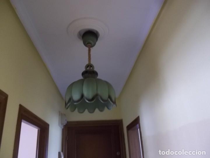 Antigüedades: LAMPARA DE CERAMICA-AÑOS 70 - Foto 3 - 123081931