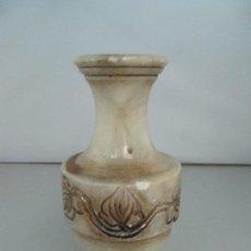 Antigüedades: JARRÓN DE ALABASTRO, TAMAÑO 16,5 CM DE ALTURA. Lote 123082675