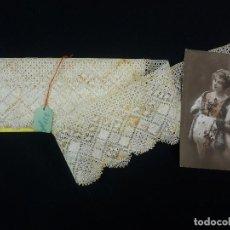 Antigüedades: 1563 ENCAJE ANTIGUO DE BOLILLO COLOR CRUDO 300X9 CM. Lote 123114331
