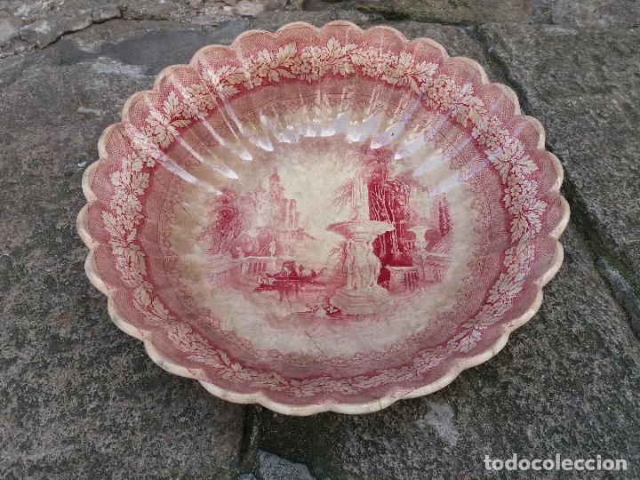 SARGADELOS FRUTERO ENSALADERA ROSA VISTAS IMAGINARIAS (Antigüedades - Porcelanas y Cerámicas - Sargadelos)