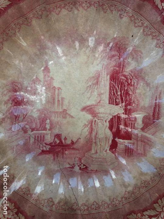 Antigüedades: Sargadelos frutero ensaladera rosa vistas imaginarias - Foto 3 - 123116291