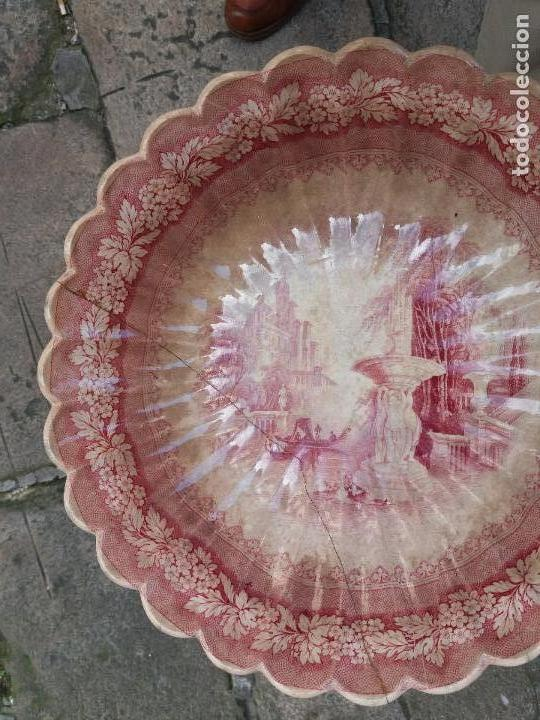 Antigüedades: Sargadelos frutero ensaladera rosa vistas imaginarias - Foto 4 - 123116291