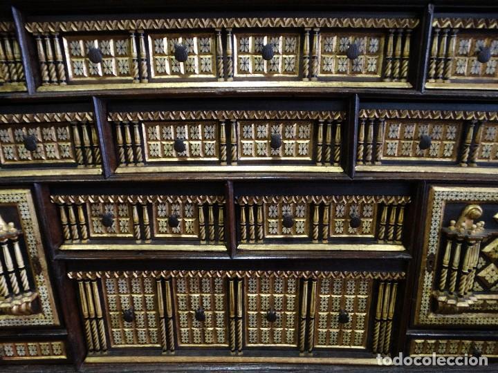 Antigüedades: Bargueño de Hueso- Pan de oro- Bronces-Herrajes-Materiales, siglo XIX, fabricado mediados XX. - Foto 3 - 123123887
