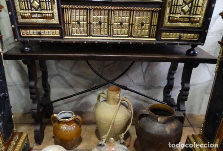 Antigüedades: Bargueño de Hueso- Pan de oro- Bronces-Herrajes-Materiales, siglo XIX, fabricado mediados XX. - Foto 4 - 123123887