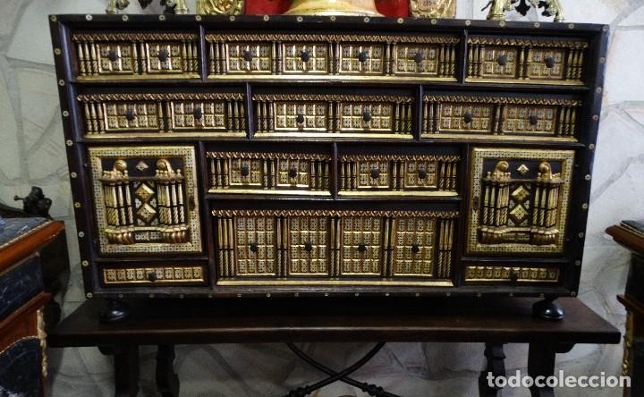 Antigüedades: Bargueño de Hueso- Pan de oro- Bronces-Herrajes-Materiales, siglo XIX, fabricado mediados XX. - Foto 5 - 123123887