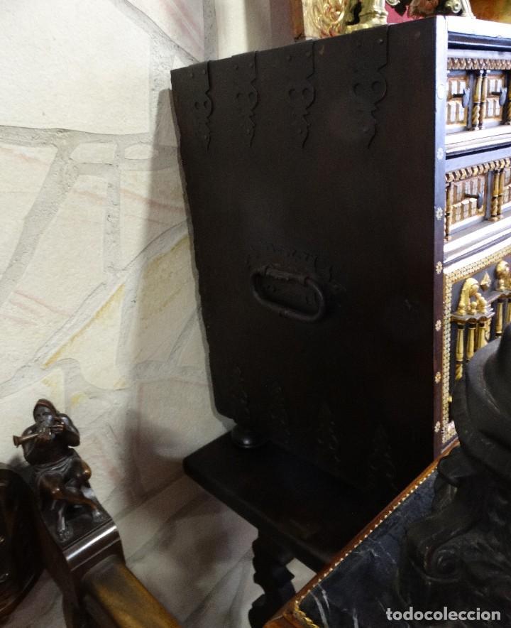 Antigüedades: Bargueño de Hueso- Pan de oro- Bronces-Herrajes-Materiales, siglo XIX, fabricado mediados XX. - Foto 6 - 123123887