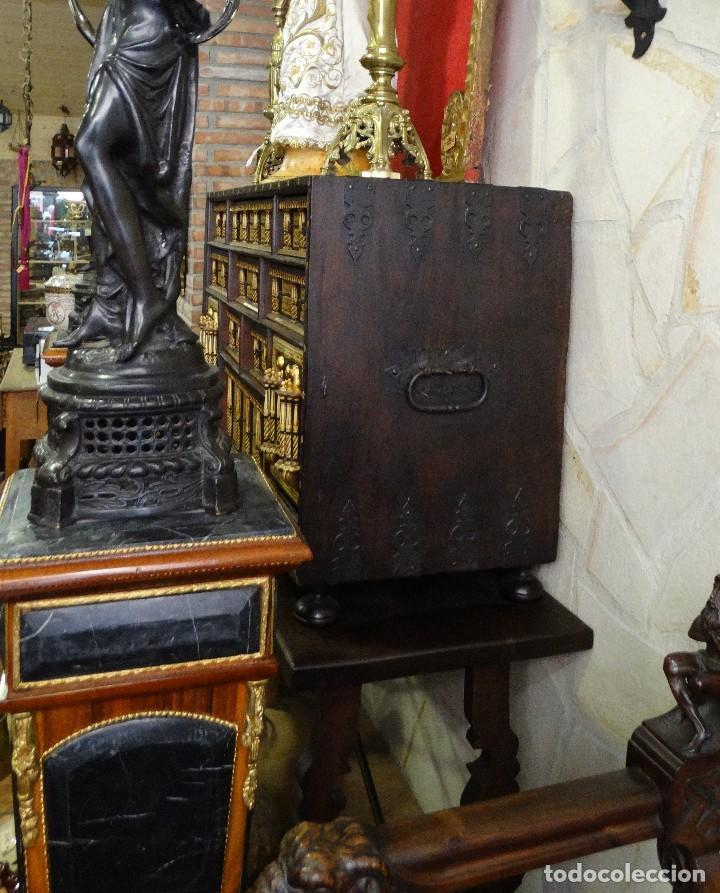 Antigüedades: Bargueño de Hueso- Pan de oro- Bronces-Herrajes-Materiales, siglo XIX, fabricado mediados XX. - Foto 7 - 123123887