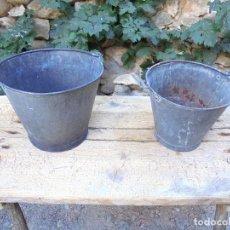 Antigüedades: 2 CUBOS DE ZINC ANTIGUOS. Lote 123201187