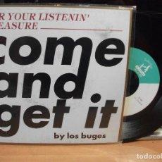 Discos de vinilo: LOS BUGES FOR YOUR LISTENIN SINGLE SPAIN 1994 PEPETO TOP . Lote 123224271