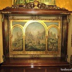 Antigüedades: SOBERBIO MUEBLE ORATORIO (PINTADO A MANO ). Lote 123233251