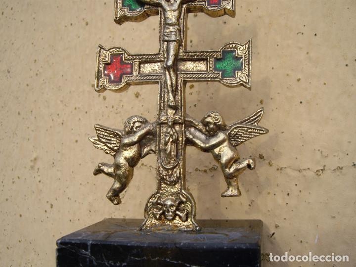 Antigüedades: ANTIGUA CRUZ DE CARAVACA - Foto 3 - 123238767
