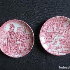 Antigüedades: PAREJA DE PLATOS DECORATIVOS - ENOCH WEDGWOOD ENGLAND. Lote 123283371
