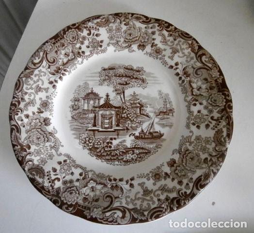 UN PLATO LLANO LA CARTUJA DE SEVILLA PICKMAN 23 (Antigüedades - Porcelanas y Cerámicas - La Cartuja Pickman)