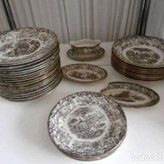 Antigüedades: VAJILLA PICKMAN LA CARTUJA DE SEVILLA 202 34 PIEZAS. Lote 123292995
