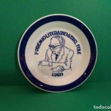 Antigüedades: PLATO SARGADELOS RETRATO ANXEL FOLE. 1º PREMIO LITERARIO ANXEL FOLE 1987 LUGO. Lote 123325347