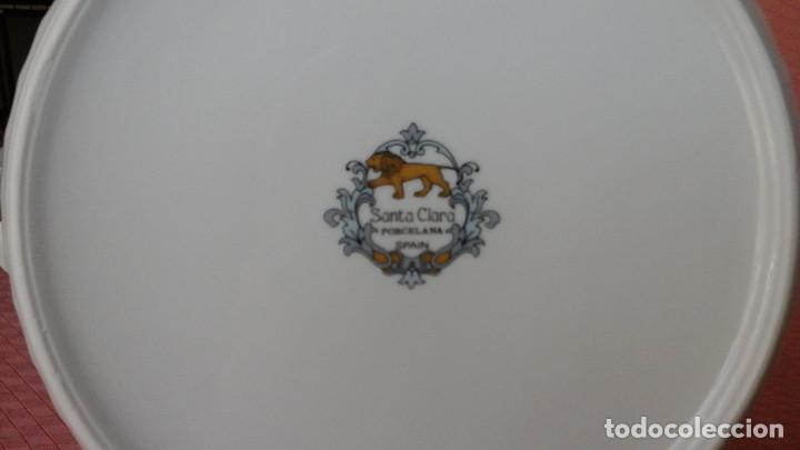 Antigüedades: VAJILLA SANTA CLARA MODELO SEVILLA - Foto 8 - 123326599