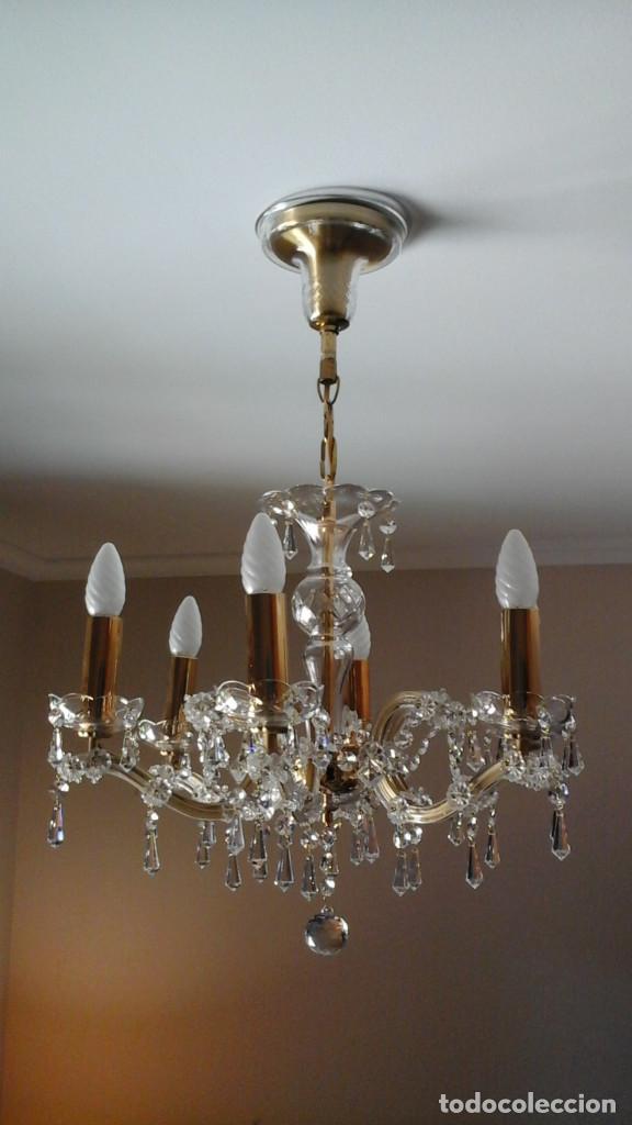 LAMPARA DE TECHO DE CRISTAL DE BOHEMIA (Antigüedades - Cristal y Vidrio - Bohemia)