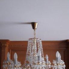 Antigüedades: LAMPARA DE TECHO DE CRISTAL DE BOHEMIA. Lote 123329683